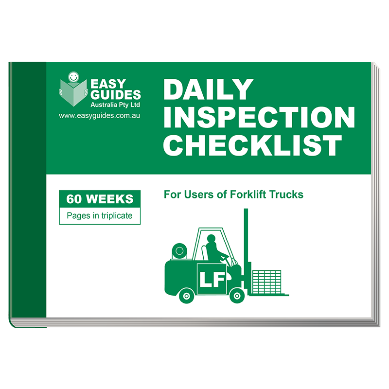 Forklift Inspection Checklist Book Amp Safety Guide