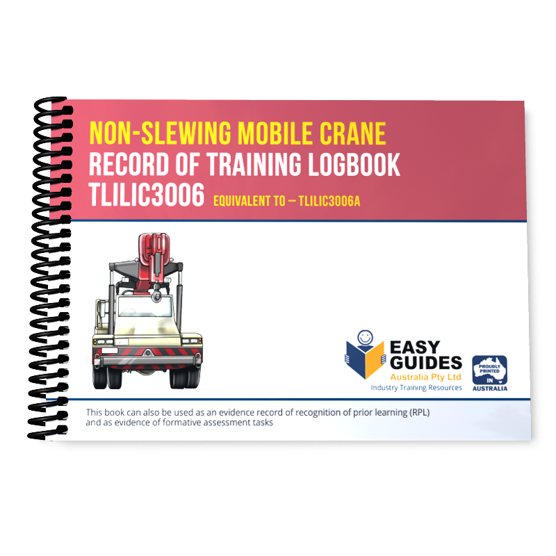 Non-slewing Mobile Crane Record of Training Logbook