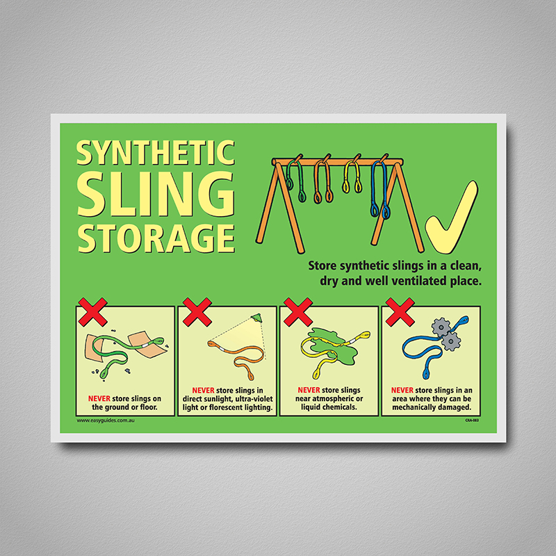 Poster Synthetic Sling Storage