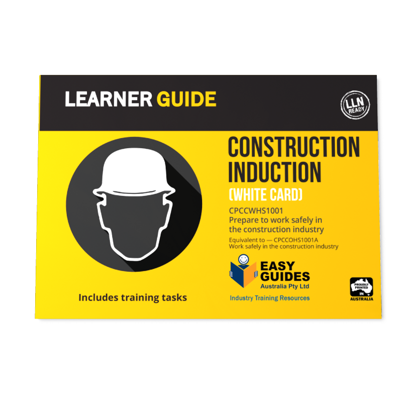 White Card Learning Materials Resources Construction Induction
